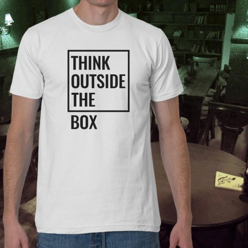 تی شرت مردانه think out of the box
